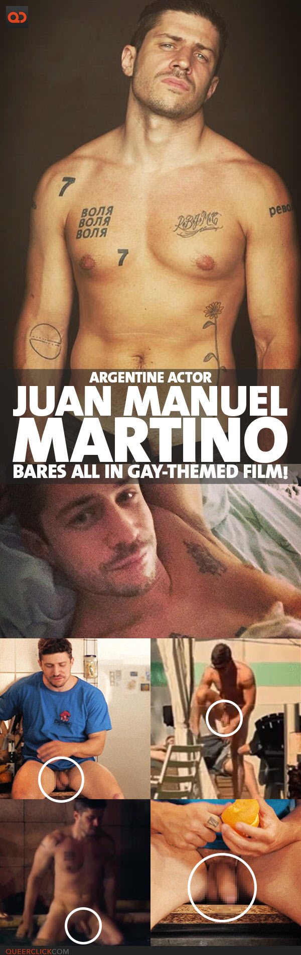 Juan Manuel Martino, Argentine Actor, Bares All In Gay-themed Film!