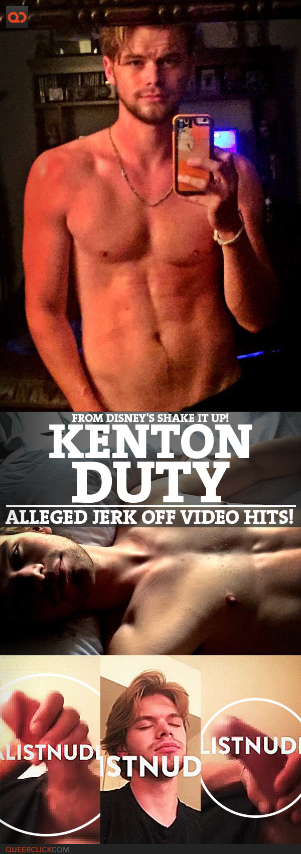 Kenton Duty, From Disney's Shake It Up!, Alleged Jerk Off Video Hits!