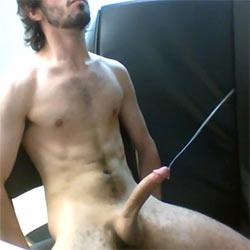 Lean Guy Cums Hands-Free!