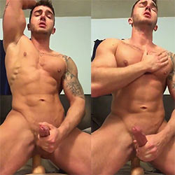 Busting A Big Nut While Riding A Dildo!