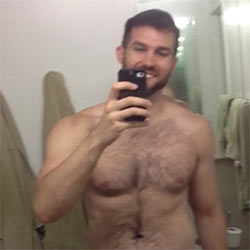 Hairy Cutie Parades His Body In A Hot Video-Selfie!