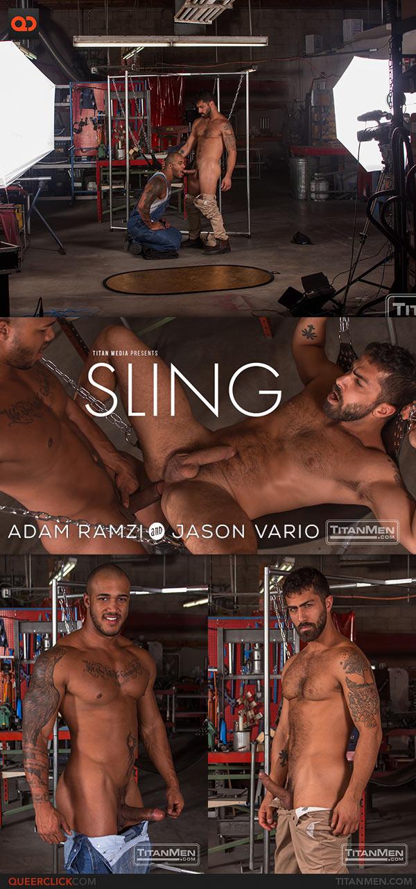 TitanMen: Jason Vario Fucks Adam Ramzi - Sling