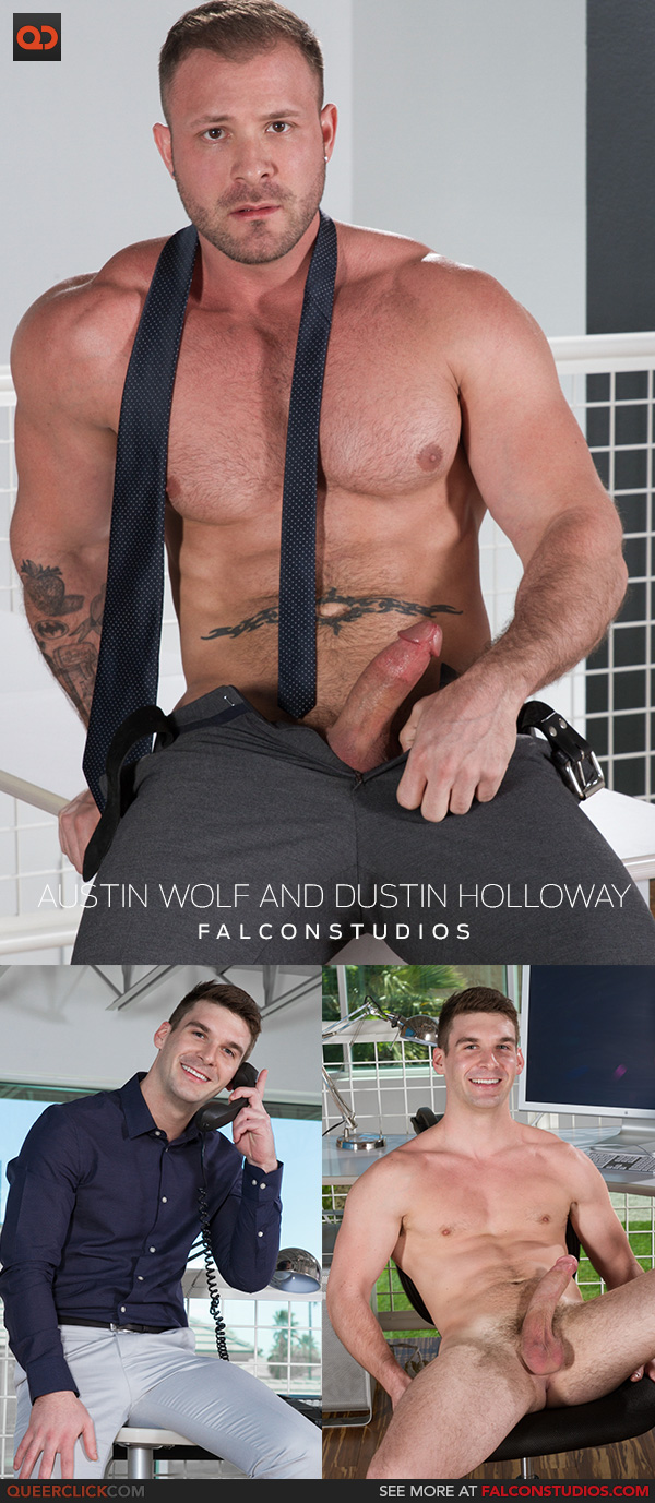 Austin Wolf Straight Porn falcon studios: austin wolf and dustin holloway - queerclick