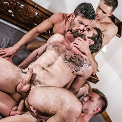 Lucas Entertainment: Andrey Vic, Bogdan Gromov, Andy Star and Dani Robles – Bareback Orgy