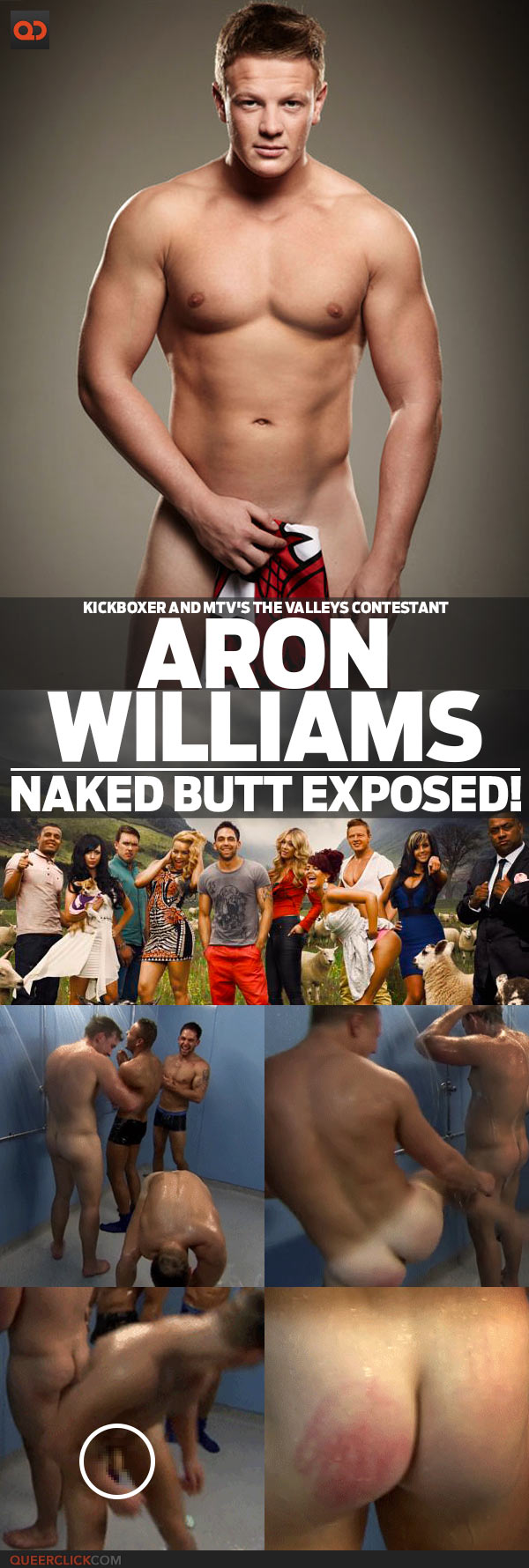 Aron Williams, Kickboxer And Mtv's The Valleys Contestant, Naked Butt Exposed!