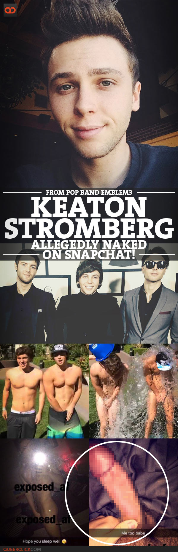 Keaton Stromberg, From Pop Band Emblem3, Allegedly Naked On Snapchat!