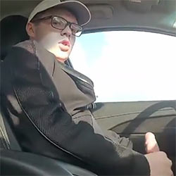 Wanking While Driving!