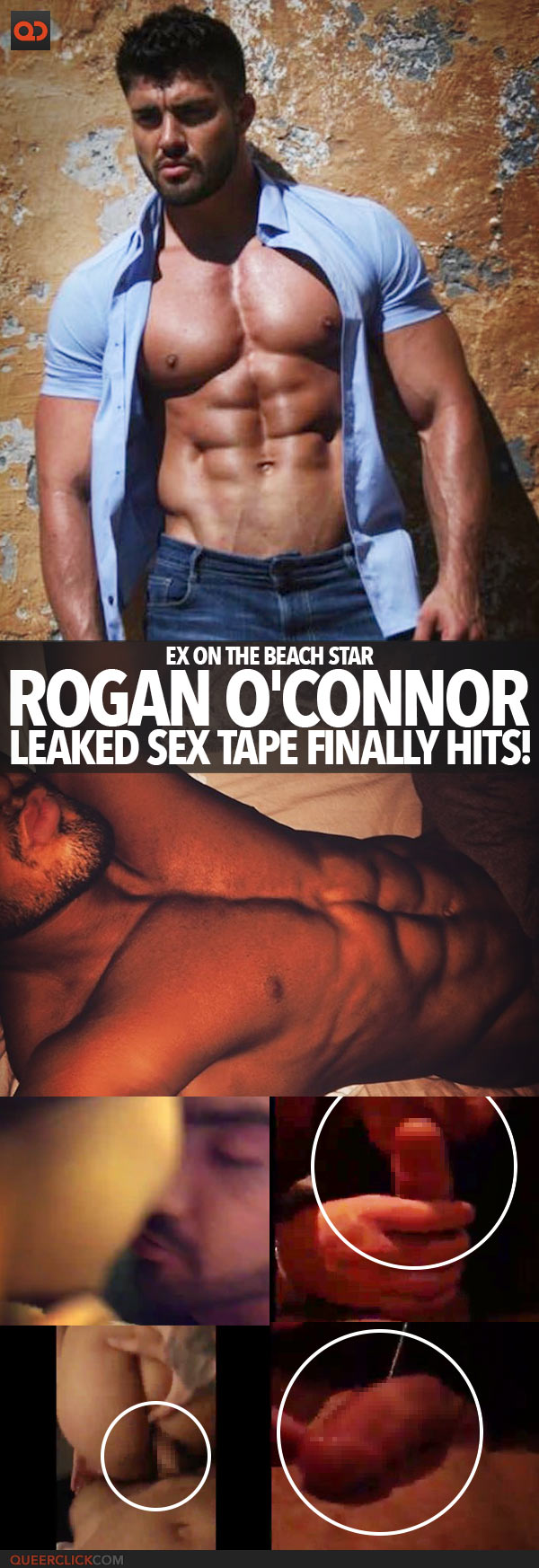 Rogan O'Connor, Ex On The Beach Star, Leaked Sex Tape Finally Hits!