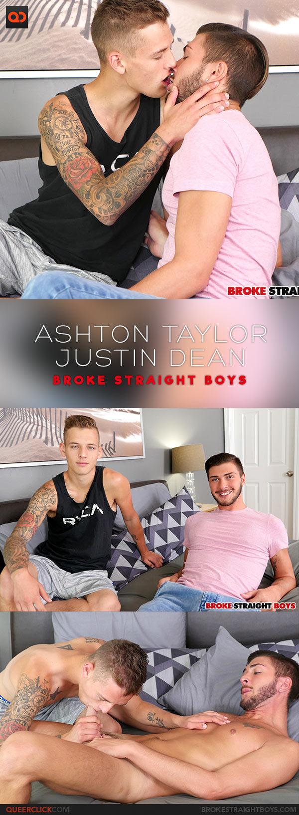 Broke Straight Boys: Ashton Taylor Fucks Justin Dean - Bareback