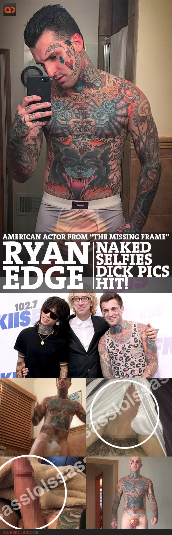 """Ryan Edge, American Actor From """"The Missing Frame"""", Naked Selfies And Dick Pics Hit!"""