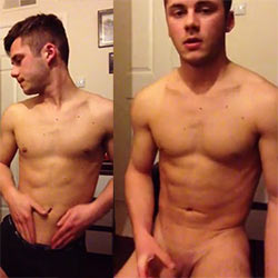 Cute College Guy Shows Off His Cock!