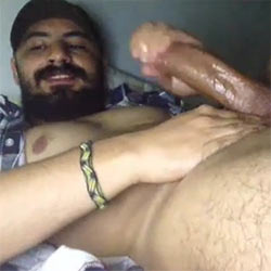 Lumber Sexual Strokes His Well-Oiled Fuck Machine!