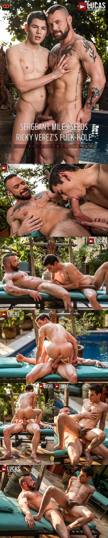 Lucas Entertainment: Sergeant Miles Fucks Ricky Verez - Bareback