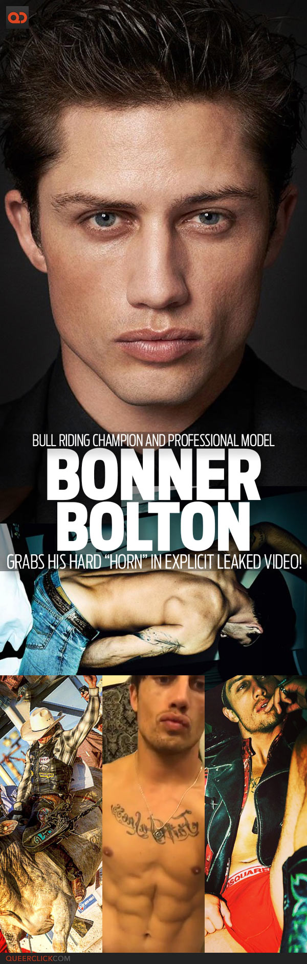 """Bonner Bolton, Bull Riding Champion And Professional Model, Grabs His Hard """"Horn"""" In Explicit Leaked Video!"""