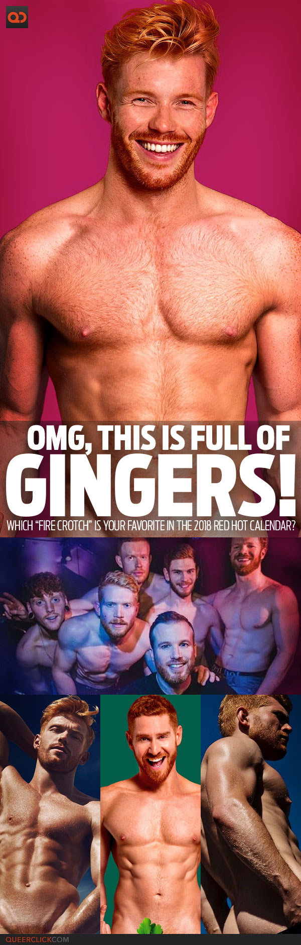 "OMG, This Is FULL Of Gingers! Which ""Fire Crotch"" Is Your Favorite In The 2018 Red Hot Calendar?"