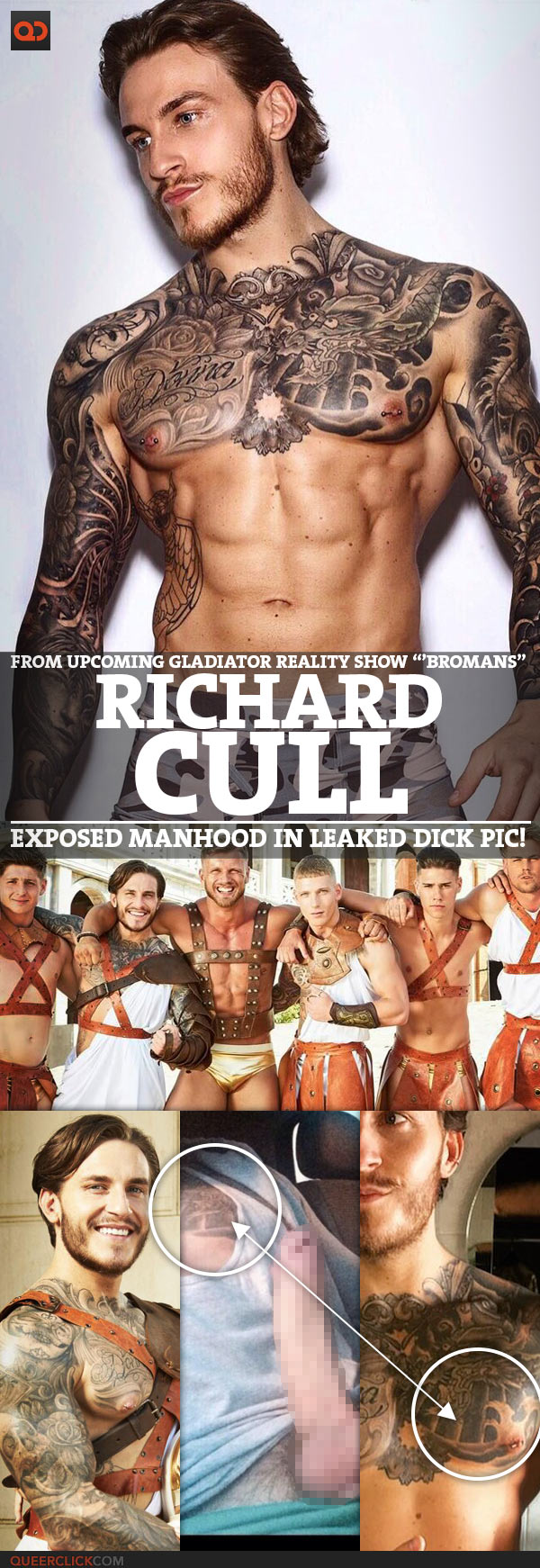 """Richard Cull, From Upcoming Gladiator Reality Show """"Bromans"""", Exposed Manhood In Leaked Dick Pic!"""