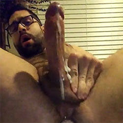 Having A Hands-Free Wank While Fucking Himself With A Dildo!