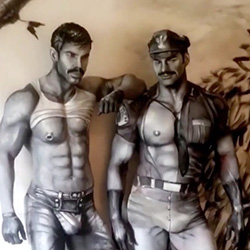 Queer Clicks: September 24 | This Is Not A Tom Of Finland Illustration. It's Two Men Covered In Body Paint. Can You Even?, Russell Tovey To Star As Gay Superhero 'The Ray' In The CW's Arrow-verse Crossover, & Other News
