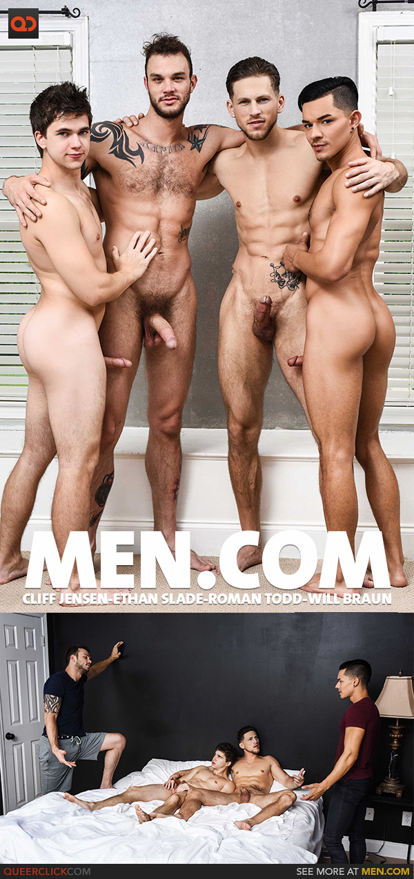 Men.com: Cliff Jensen, Ethan Slade, Roman Todd and Will Braun