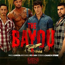 Men.com: The Bayou – Paul Canon, Michael Roman and Damien Stone; Tobias and Damien Stone; Paul Canon and Tobias