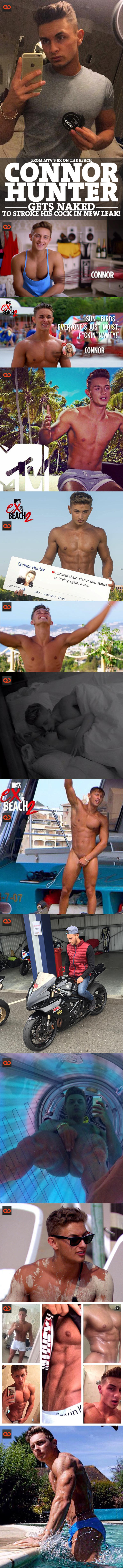 Connor Hunter, From MTV's Ex On The Beach, Gets Naked To Stroke His Cock In New Leak!