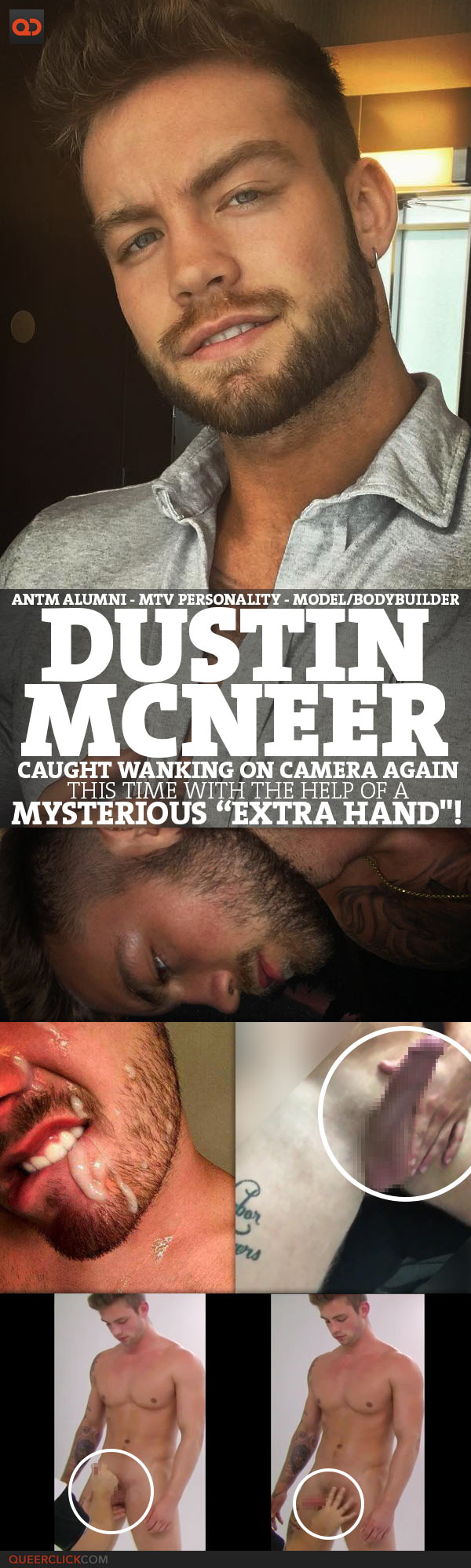 """Dustin McNeer Caught Wanking On Camera Again - This Time With The Help Of A Mysterious """"Extra Hand"""