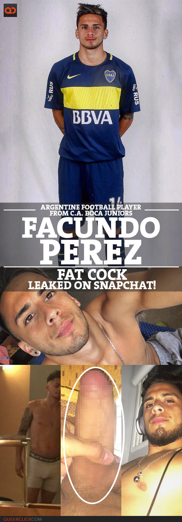 Facundo Perez, Argentine Football Player From C.A. Boca Juniors, Alleged Fat Cock Leaked On Snapchat!