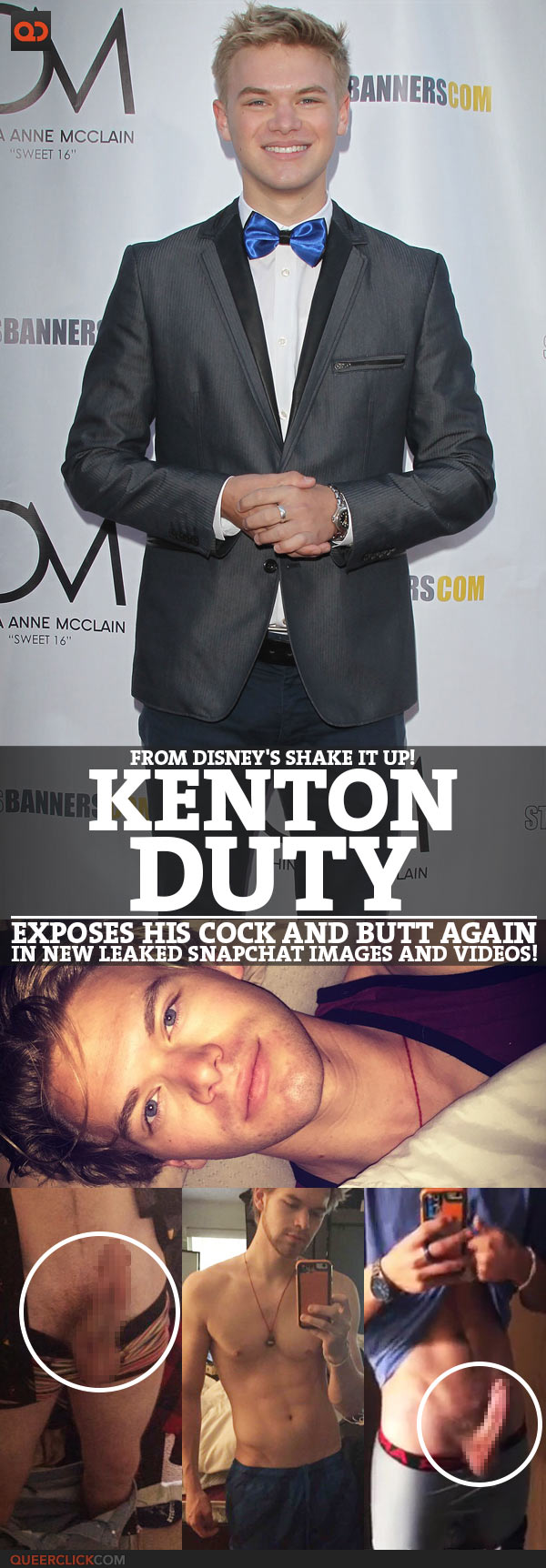 Kenton Duty Exposes His Cock And Butt Again In New Leaked Snapchat Images And Videos!!