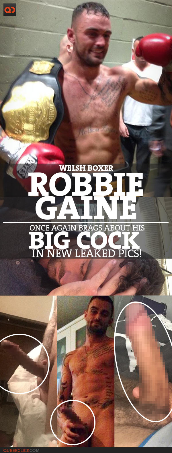 Robbie Gaine, Welsh Boxer, Once Again Brags About His Big Cock In New Leaked Pics!