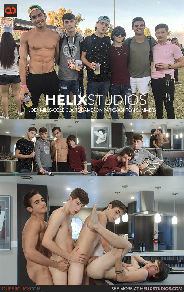 Helix Studios: Joey Mills, Cole Claire, Cameron Parks and Ashton Summers