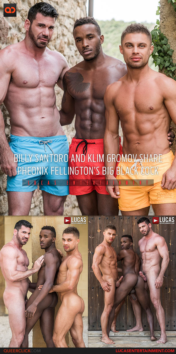 Lucas Entertainment: Billy Santoro, Klim Gromov and Pheonix Fellington Flip Fuck Bareback Threesome