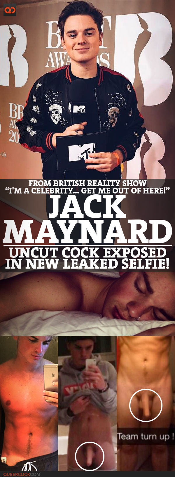 """Jack Maynard, From British Reality Show """"I'm A Celebrity… Get Me Out Of Here!"""", Uncut Cock Exposed In Leaked Selfie!"""