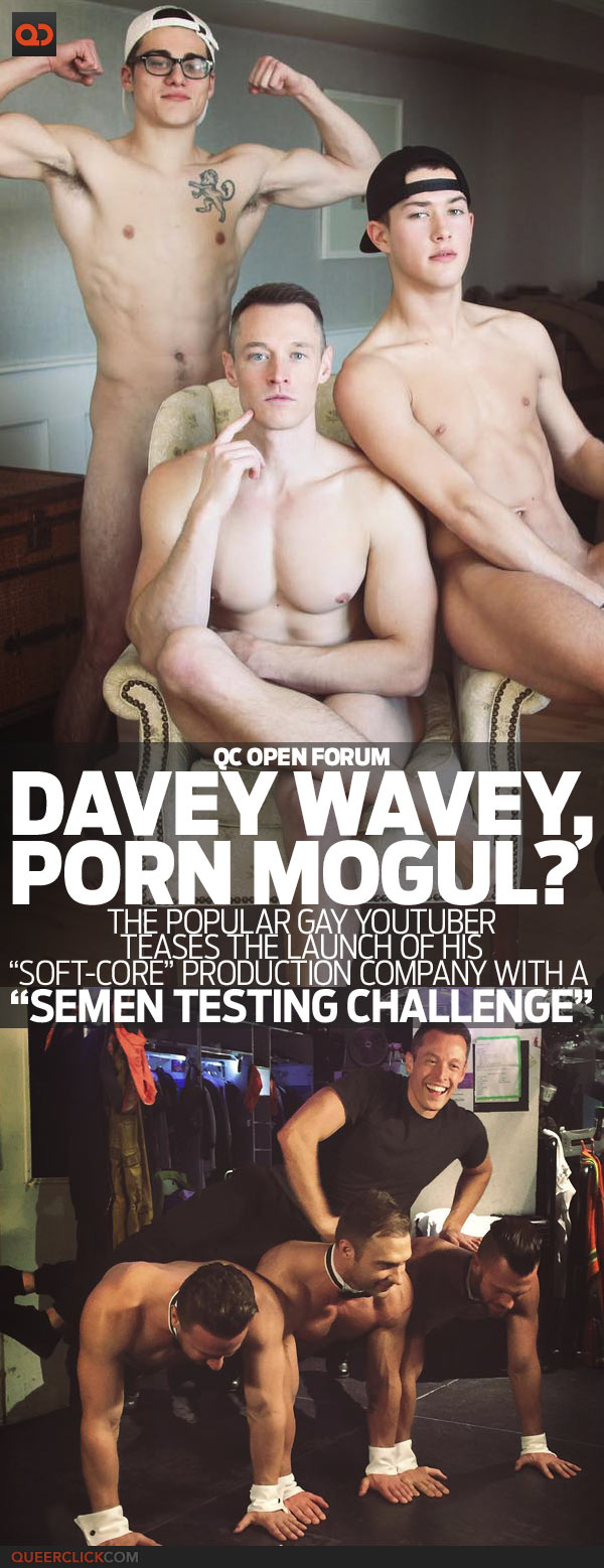 Watch: YouTuber Davey Wavey Makes His First Gay Porn Appearance