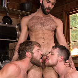 Raging Stallion: Colby Keller, Tegan Zayne, and Kurtis Wolfe