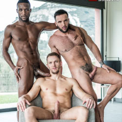 Lucas Entertainment: Donato Reyes, Andre Donovan and Andrey Vic's Threesome Bareback Fuck