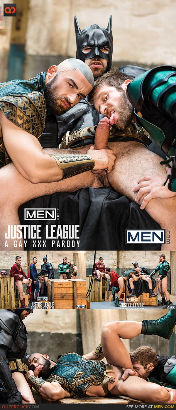 Men.com:  Justice League : A Gay XXX Parody Part 4 -Brandon Cody, Colby Keller, Francois Sagat, Johnny Rapid and Ryan Bones
