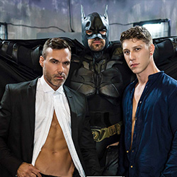 Men.com: Justice League – A Gay XXX Parody –  Manuel Skye, Paul Canon and Ryan Bones