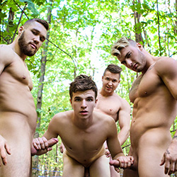 Men.com:  Alex Fortin, Bellamy Bradley, Morgan Blake and William Seed