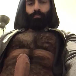 Hirsute Hottie Rubs Out A Big Load!