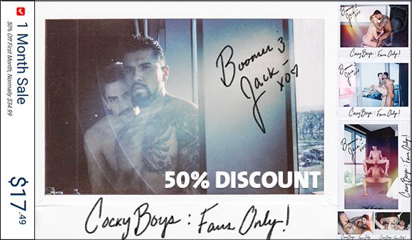 CockyBoys 50% Discount Sale!