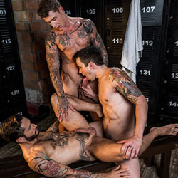 Lucas Entertainment: Dakota Payne, Rod Fogo and Geordie Jackson Bareback Threesome