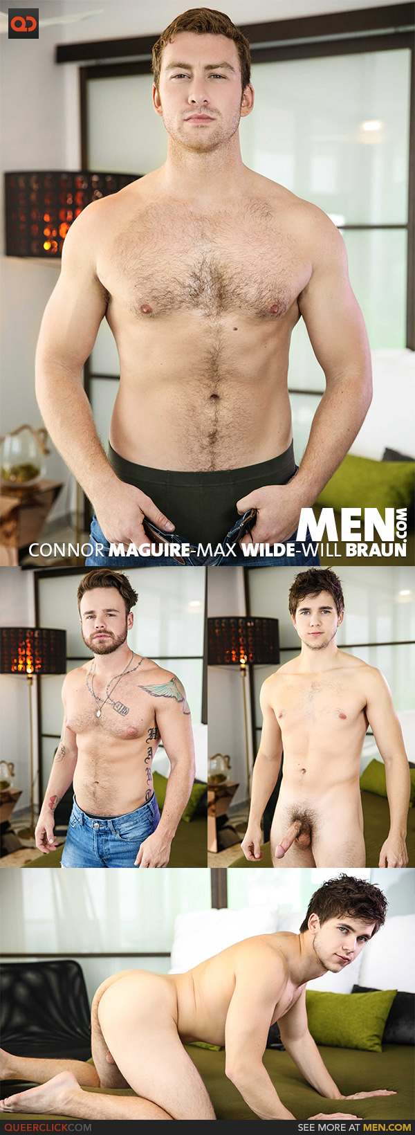 Men.com:  Connor Maguire, Max Wilde and Will Braun