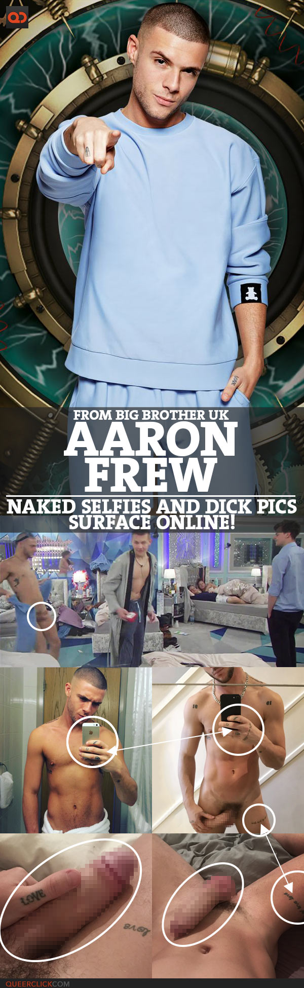 Aaron Frew, From Big Brother UK, Naked Selfies And Dick Pics Surface Online!