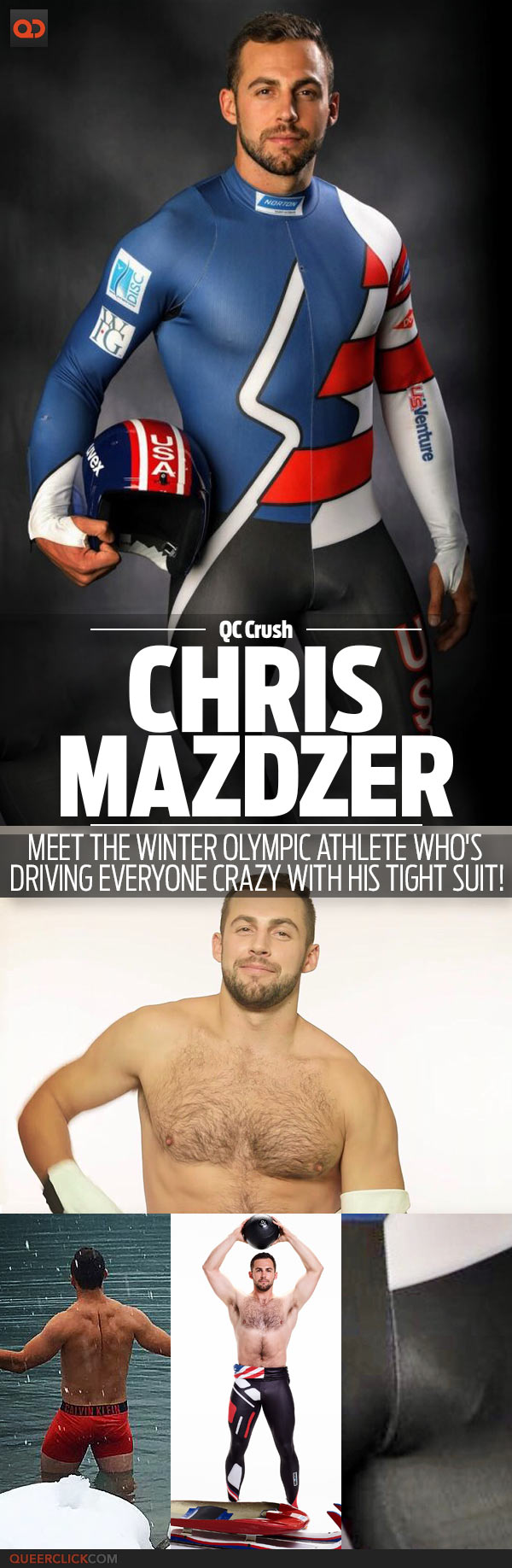 QC Crush: Chris Mazdzer, Meet The Winter Olympic Athlete Who's Driving Everyone Crazy With His Tight Suit!