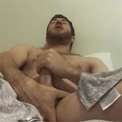 Cutie Fingers Himself Before Cumming On His Chest!