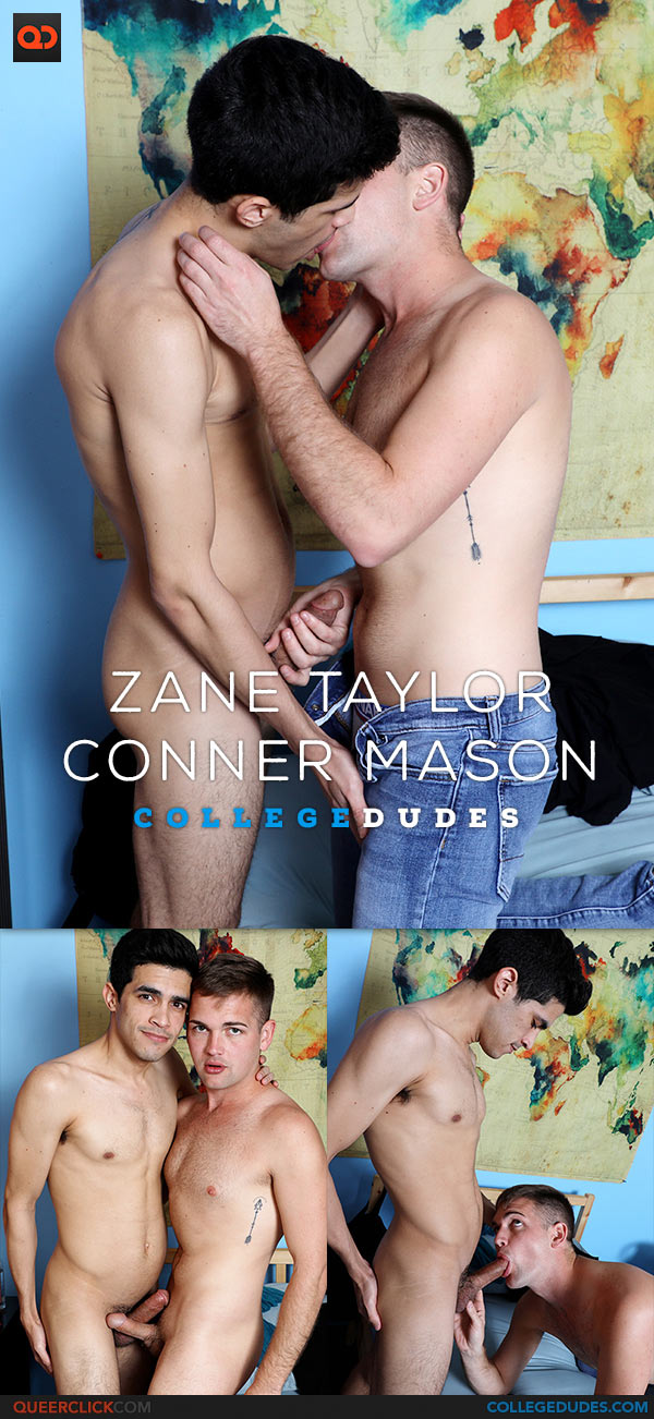 CollegeDudes: Zane Taylor and Conner Mason Flip Fuck