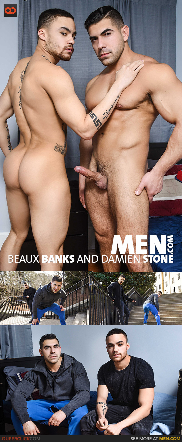Men.com:  Beaux Banks and Damien Stone