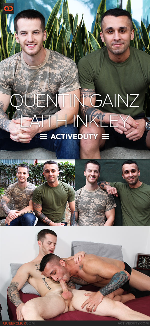 Active Duty: Laith Inkley Fucks Quentin Gainz