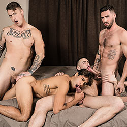 Bromo: Bukkake Bitch – Blaze, Carlos Lindo, Dante Stewart and Titus