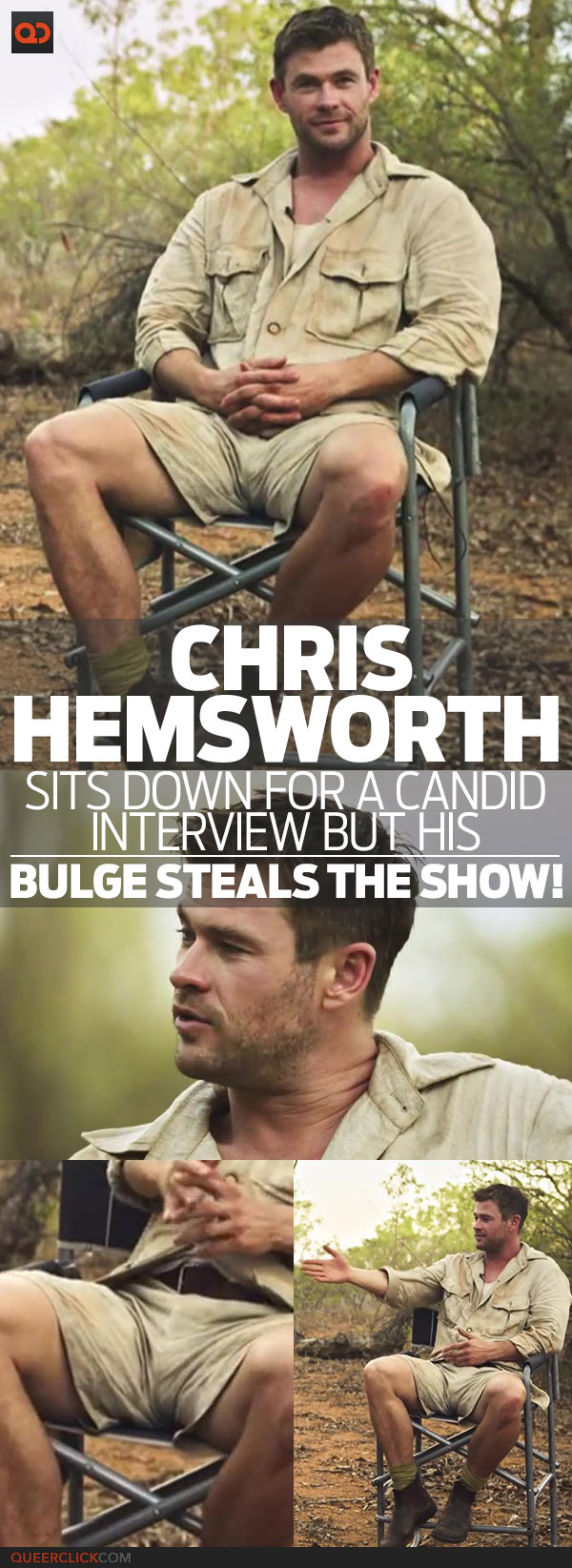 Chris Hemsworth Sits Down For A Candid Interview But His Bulge Steals The Show!